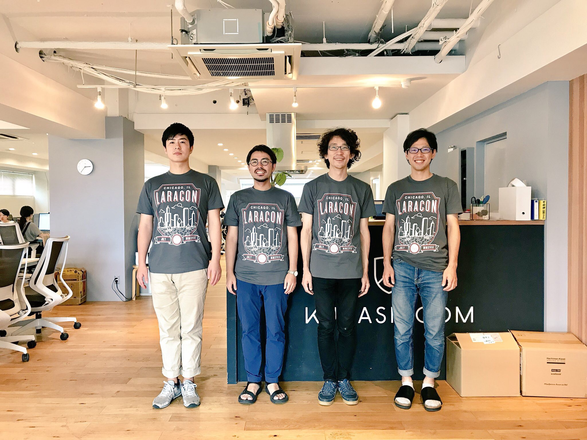 My dev team in Japan. Kurashicom Inc.